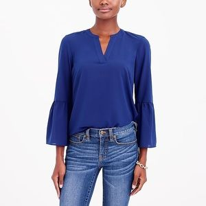 J. Crew Blue Bell Sleeve Top - Size S